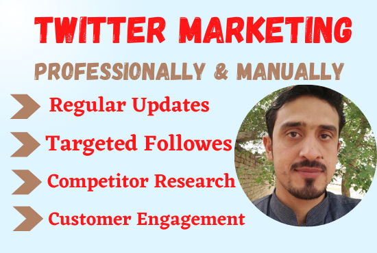 I will professionally do twitter organic with growth for your business.