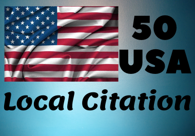 Create 50 Local Citation for USA Business Manually