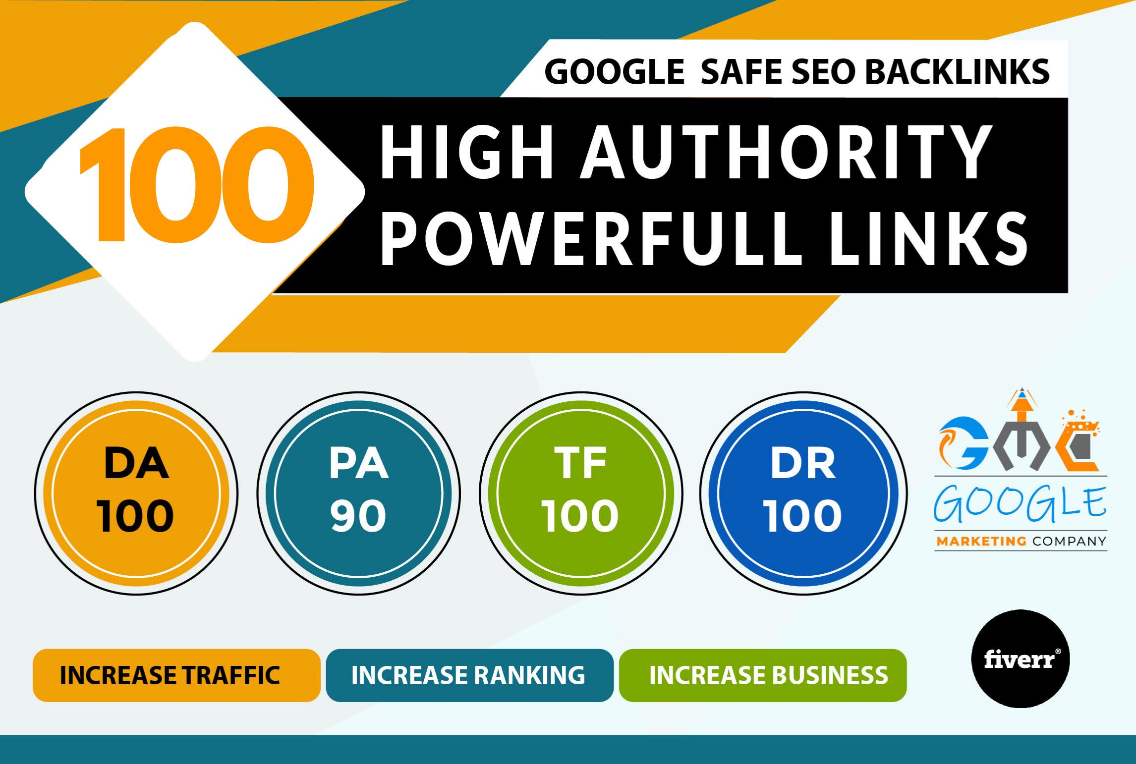 I will do unique domain 100 SEO backlinks on da100 tf100 sites