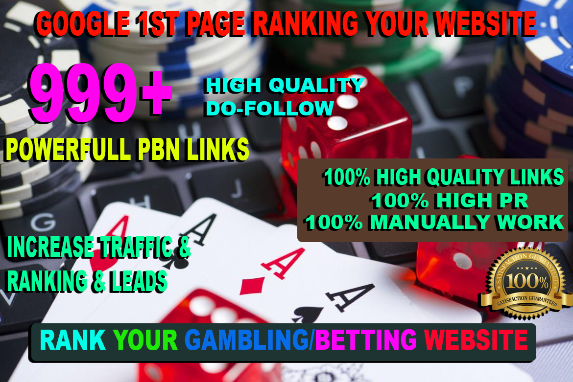Buy one get free one package 999+ powerful Casino,  gambling,  Sports related unique site