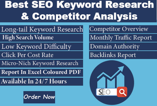 I will do the Best SEO Keyword Research & Competitor Analysis.
