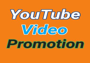Manually YouTube Video Promotion via Real and Active Users
