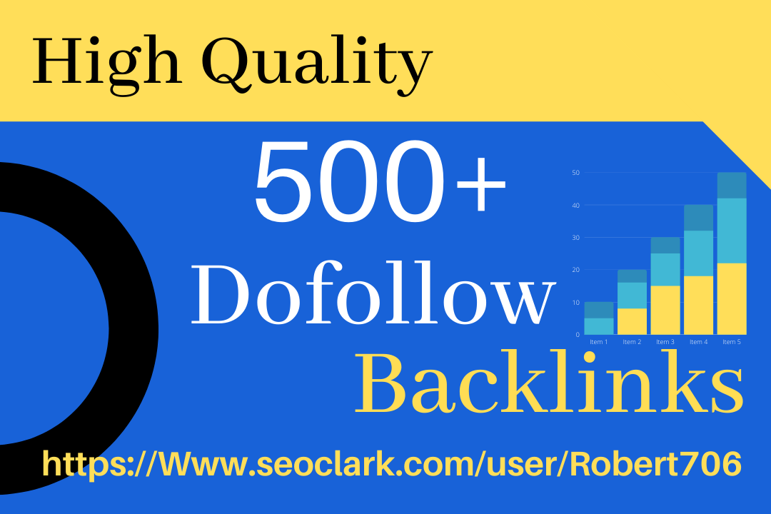 I will do 500+ High Quality Domain Permanent Dofollow Backlinks