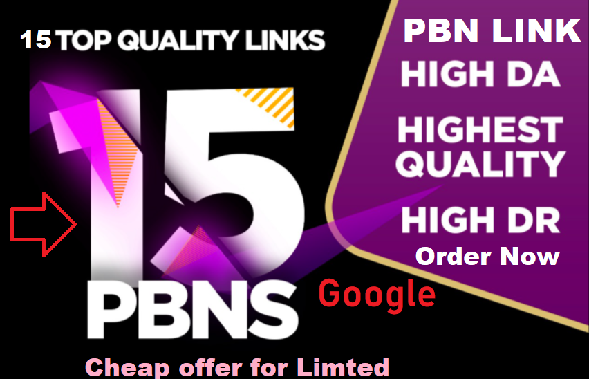 Build 15 High Quality and Permanent PBN links with high ranking PA /DA /DR