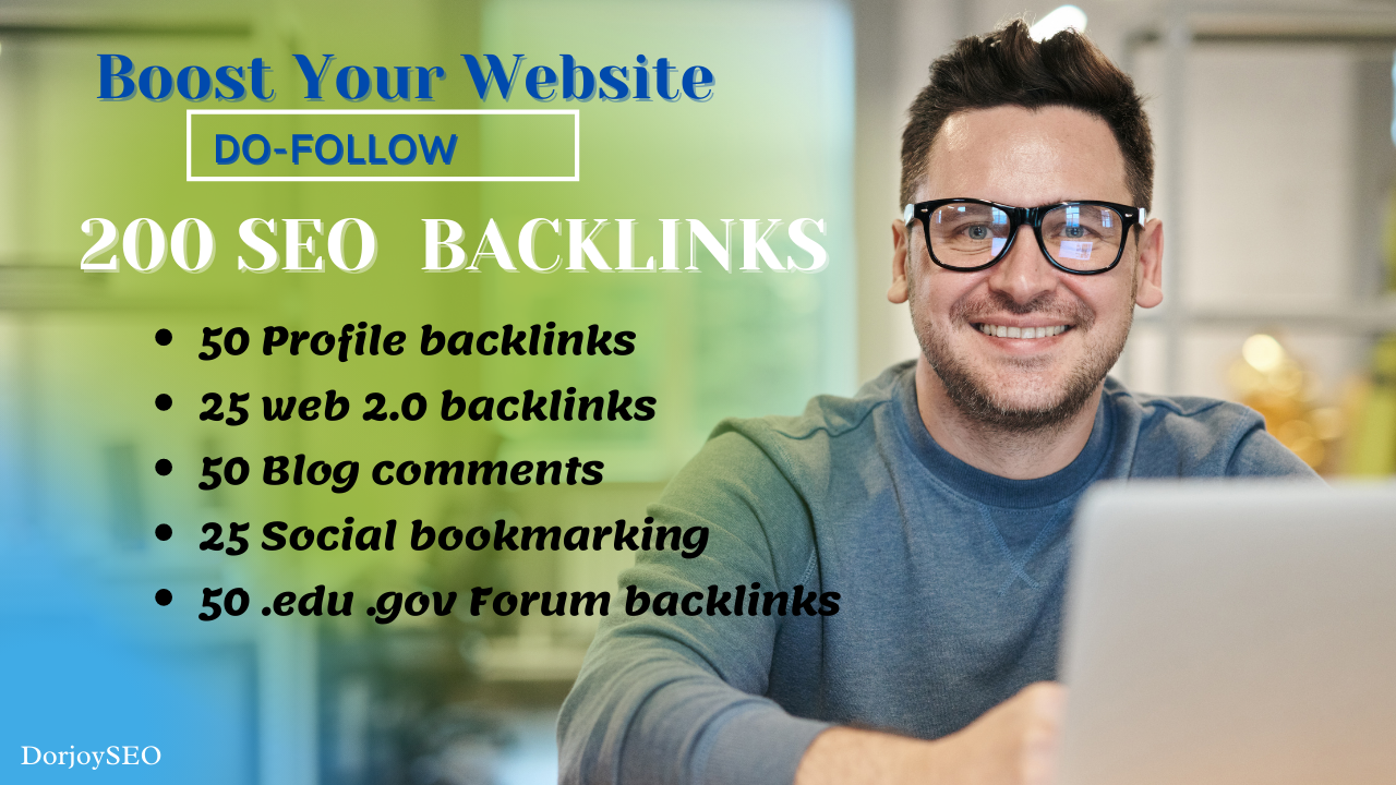 Boost Your website, 200 high-quality SEO Backlinks manually