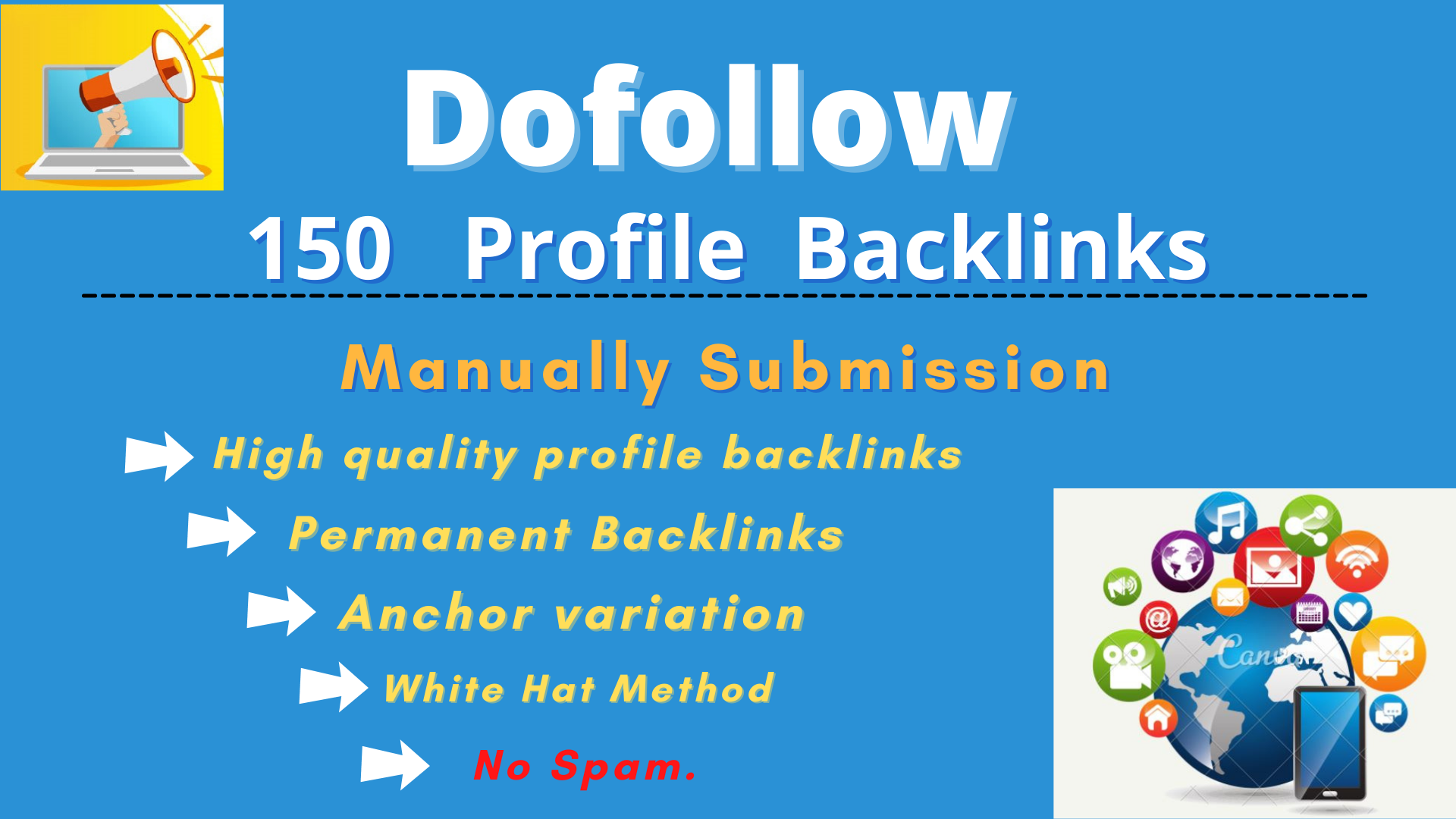 150 High Domain Authority Profile Backlinks Manually Create