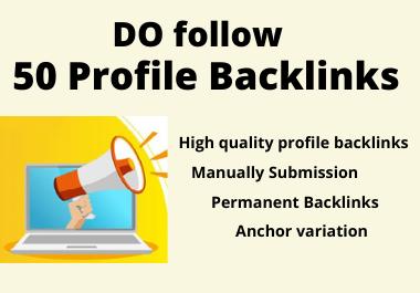 50 High Domain Authority Social Profile Backlinks Manually Create