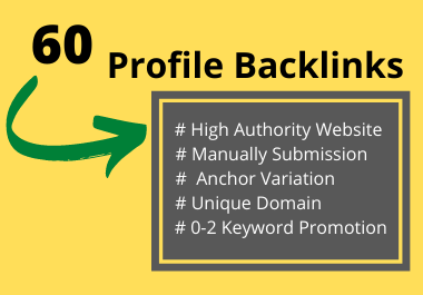 Boost Your Rank With 60 Effective Profile Backlinks