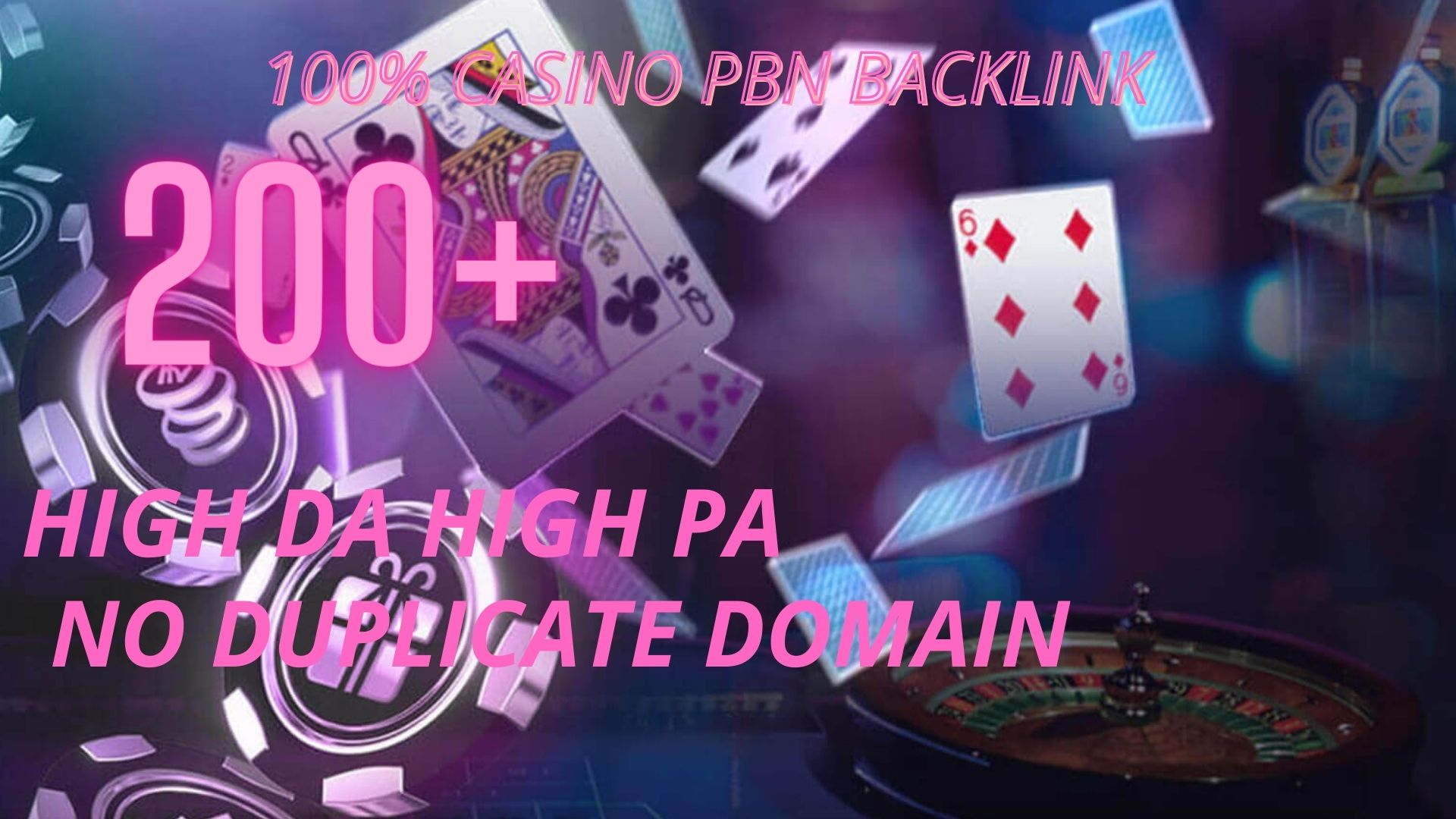 200+ casino pbn backlink on your home page with high da high pa on your website