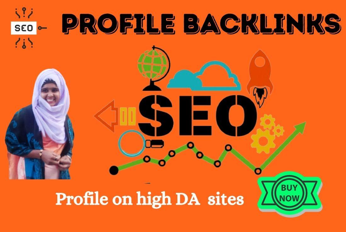 I will do 200 High Quality Profile Backlinks for SEO
