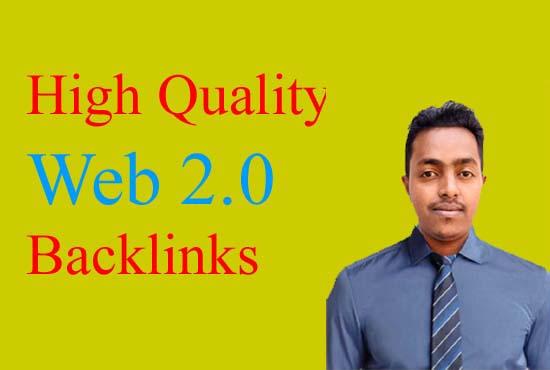 I will do high quality web 2.0 backlinks for SEO