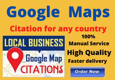 Manual200 Google Google Maps citation high authority permanent backlinks