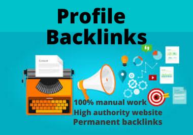 20 Profile Backlinks high authority permanent backlinks natural link building