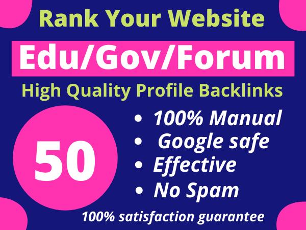 I Will Create 50 Edu/Gov/Forum Profile Backlinks