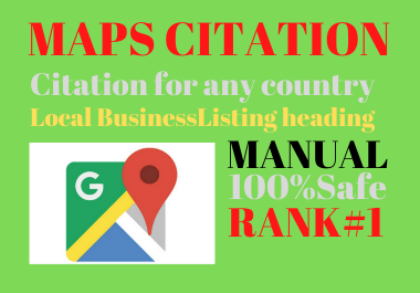 Manual 150 Google maps citation permanent backlinks high authority