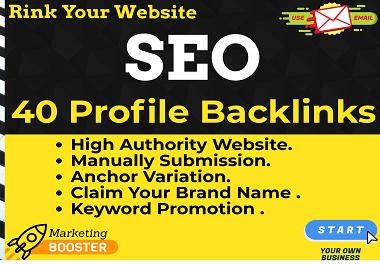 40 Profile Backlinks on High DA & PA Site MANUALLY