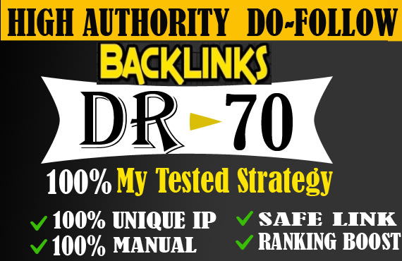 I will do 30 DR 50 to 70 ufabet poker judi gambling seo dofollow contextual backlinks off page seo