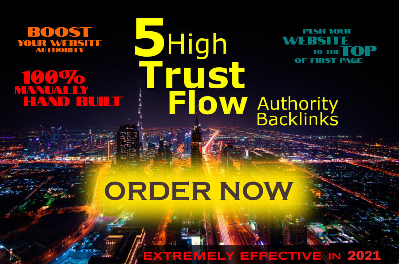 I will create 30 high authority trust flow powerful backlinks SEO service