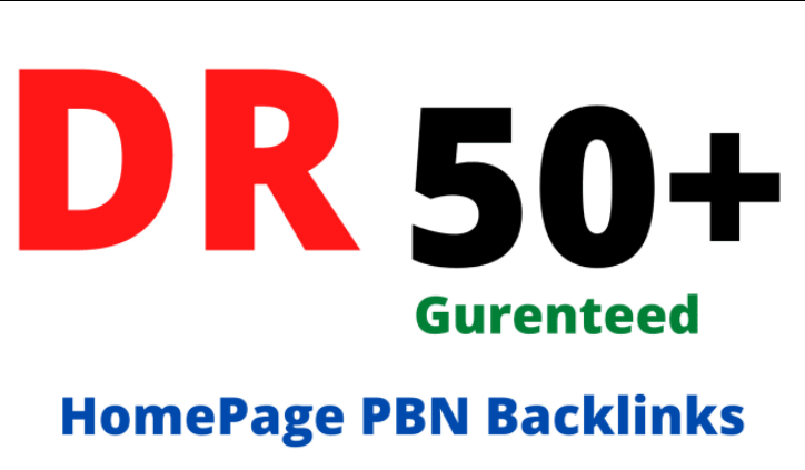 Do 10 Manual HIGH DR 50 Plus Homepage PBN Backlinks