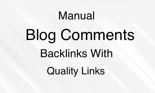 I will do 200 blogs comments backlinks with quality links