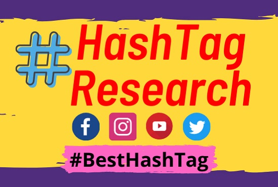 Instagram hashtag YouTube hashtag twitter hashtag LinkedIn Facebook Research