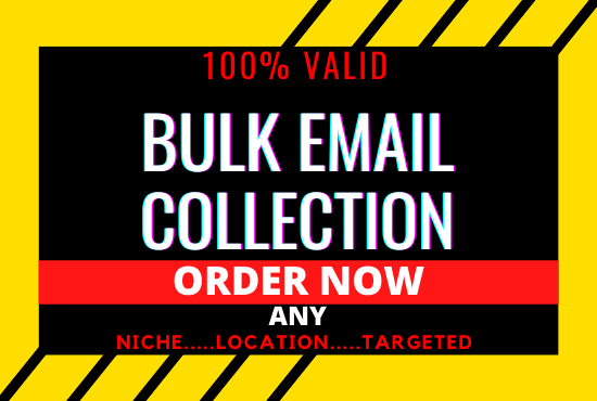 I will collect Niche Targeted BULK EMAIL,  USA Email,  EMAIL BLAST,  CAMPAIGN