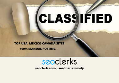 I will provide your ads in USA top classified ad posting sites