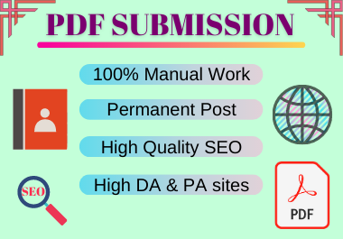 20 PDF submission hifh authority permanent backlinks manuallly creation