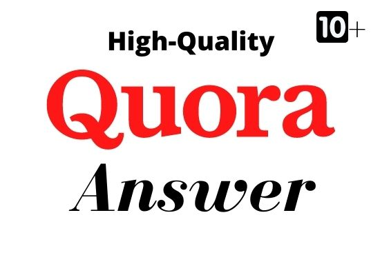I Will Provide 10+ HQ Quora Answer And Guaranteed Traffic Promote Your Website