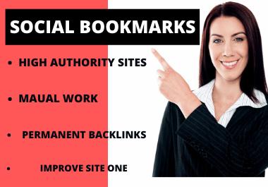 live 50 Social Bookmarking high authority website permanent backlink natural link building