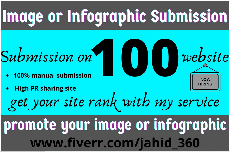 I will do image or infographic submission in top 100 sites