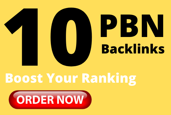 Get 10 pbn backlinks from high DA permanent dofollow links