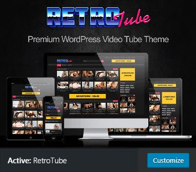 WP-SCRIPT retrotube adult theme + mass embed UNLIMITED SITES