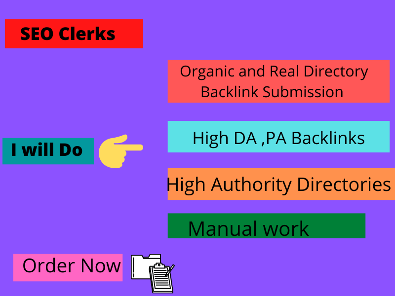 I will provide Directory backlink submission and seo expert