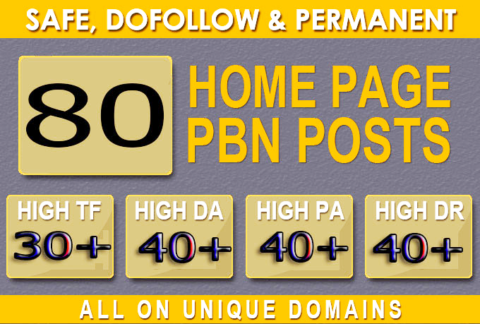Construct 80+ Backlink with 40+ Da 40+ PA DOFOLLOW and Homepage pbn with 80+ special websile interfa