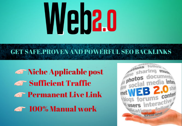 20 web 2.0 Backlinks high authority permanent link building must rank your website
