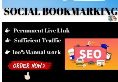 20 Social Bookmarks High authority manual permanent backlink must rank in google