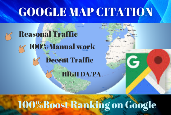 Manually Create 200 Google Maps Citation To Boost and Rank Your Local Citations For Local Business
