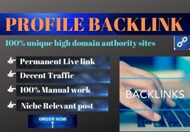 Manual 20 Profile Backlinks High DA Permanent backlink natural link building
