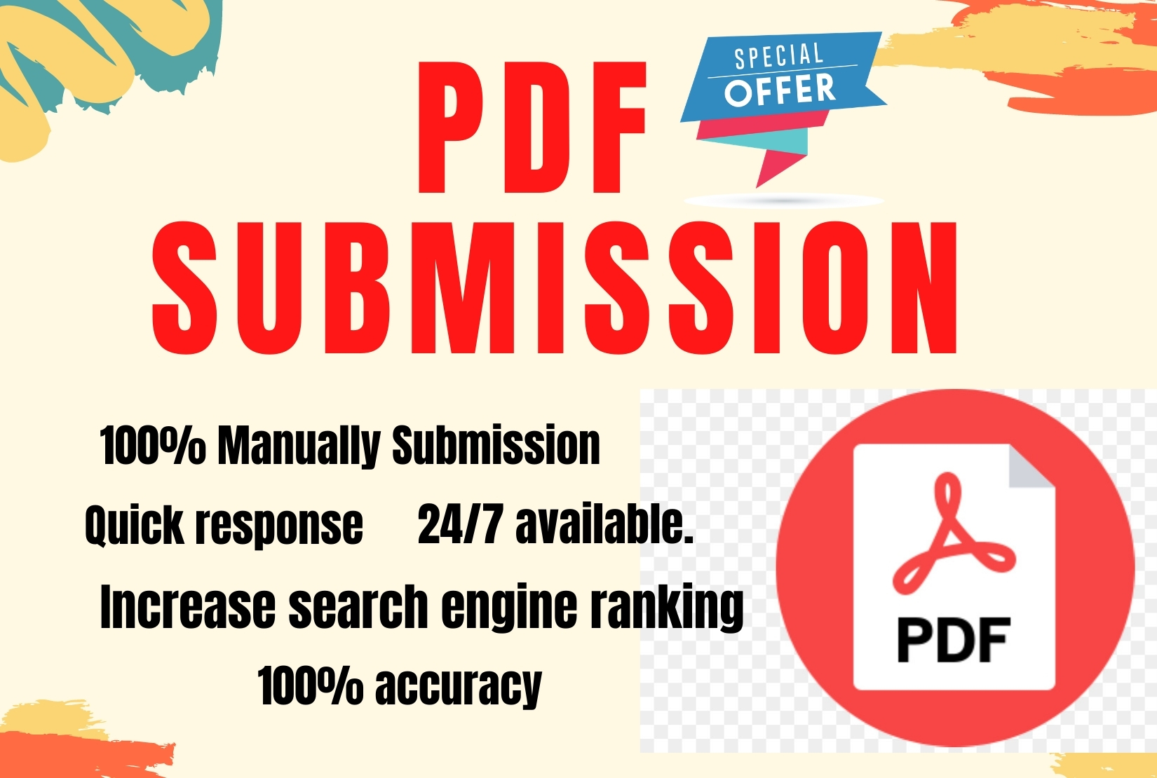 20 PDF and Docs Submission high authorty permanent backliks