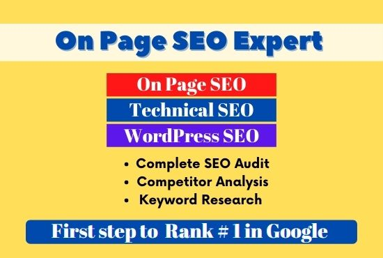 On Page SEO Expert Service,  Technical SEO,  WordPress SEO