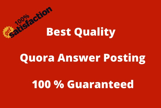 I will do 07 HQ Quora Answers Posting for your Website