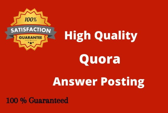 I will do 10 HQ Quora Answers Posting for your Website