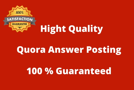 I will do 20 HQ Quora Answers Posting for your Website