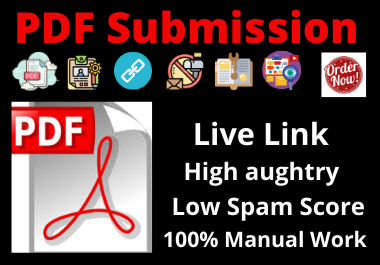 I will do 30 pdf submission in high da pa site