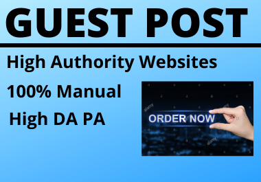 I will do 5 guest post for your website rank