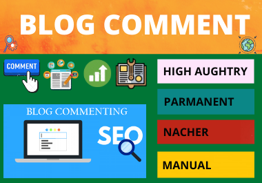 100 Blog Comments high authority website permanent backlinks unique link building for 1