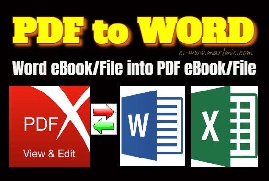 I will convert PDF file and eBook/e-Guide into Ms-Word/Excel/Power Point/JPG according to customer's