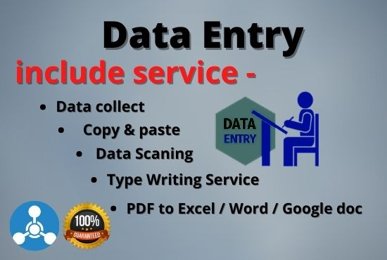 I will do data entry,  data collection,  copy & paste,  typing and excel entry works