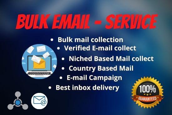 I will provide niche targeted 5k verified bulk email list